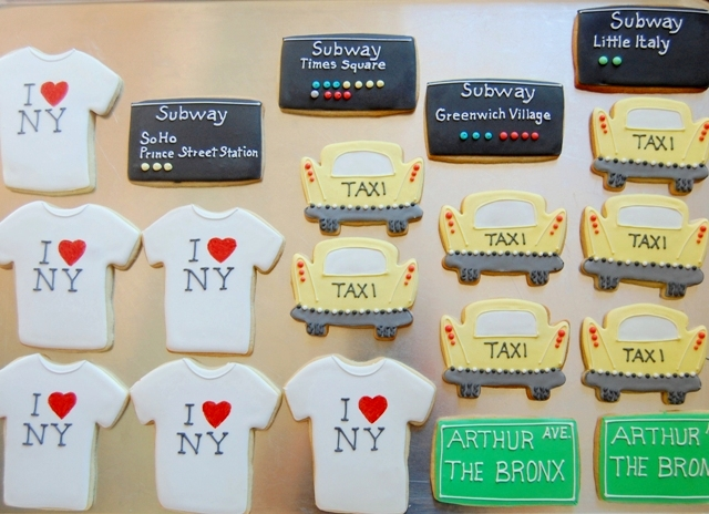 New York City party cookies!