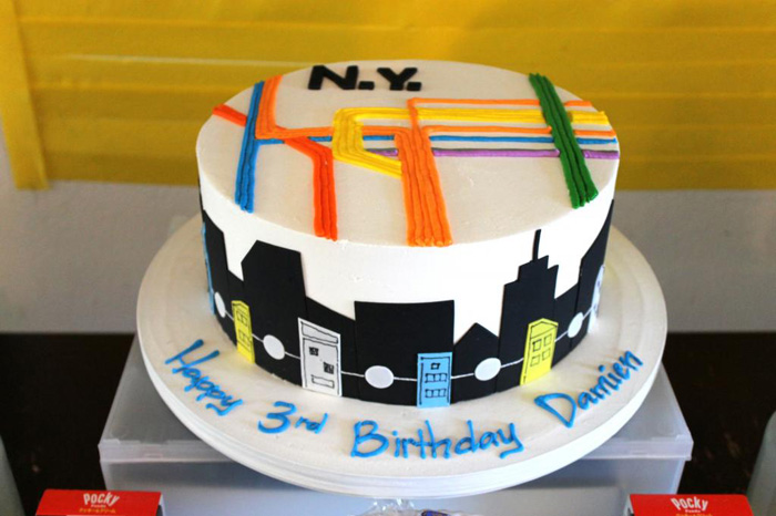 New York City Subway birthday cake