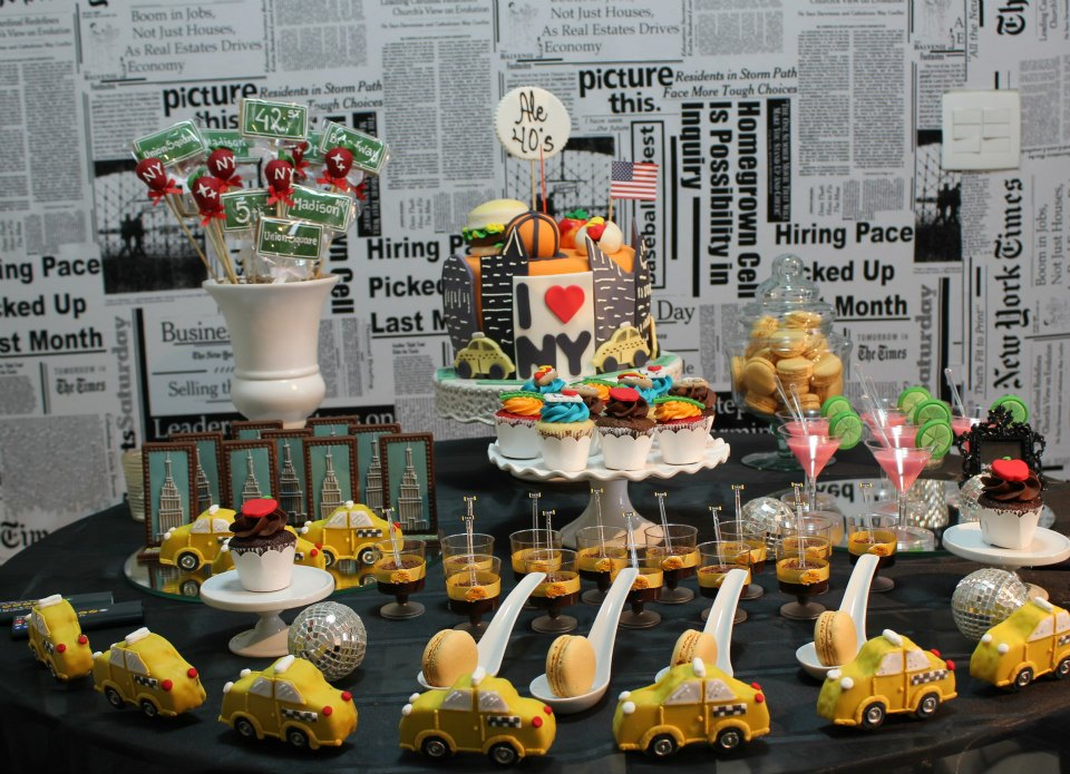 Check out this amazing New York themed 40th birthday party from ...