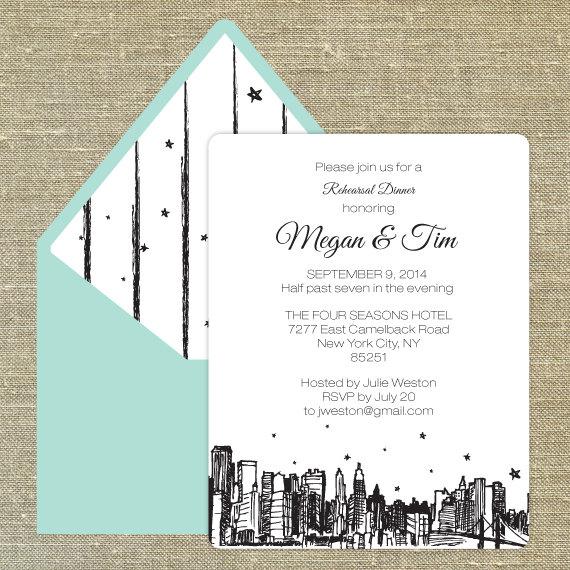 new york city themed rehearsal dinner invitation?resize=570%2C570 fabulous new york themed ideas! b lovely events,New York Style Wedding Invitations