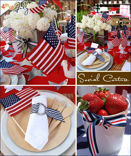 red white and blue, patriotic decor for 4th of July!