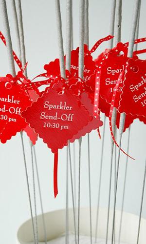 Sparkler send off for 4th of July