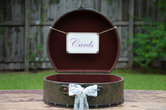 suitcase for cards at a travel wedding-buy it on Etsy!