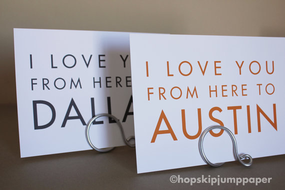 the cutest table numbers for a travel wedding