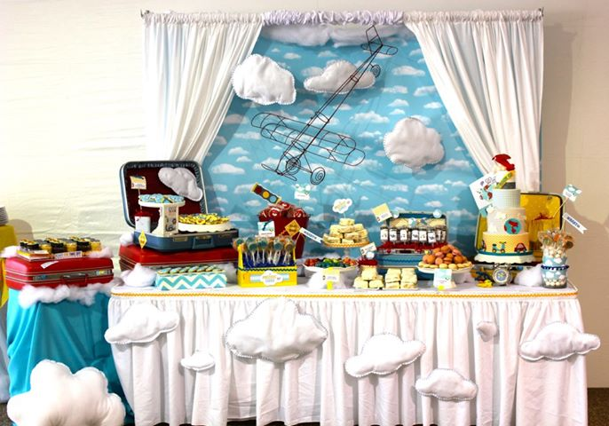 Totally cute airplane themed party!