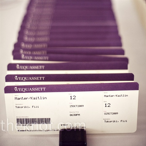 Travel airline ticket escort card
