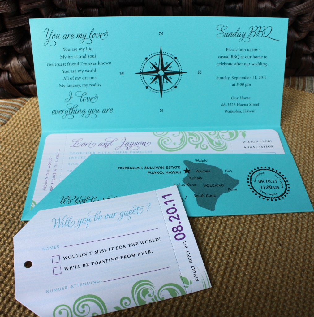 ticket is the ULTIMATE way to go for a travel theme wedding invitation ...