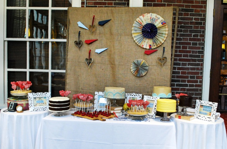 Travel themed dessert bar