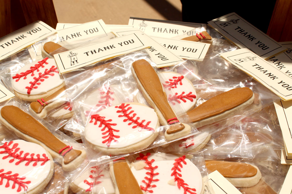 vintage baseball party favors
