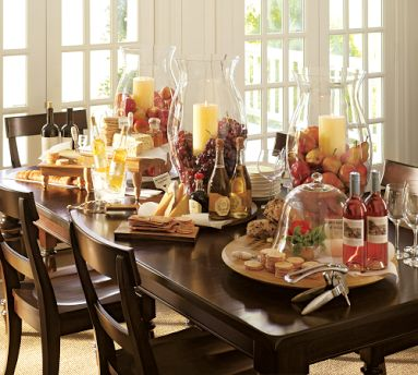 Wine and cheese party ideas b lovely events Fall decorating ideas for dinner party
