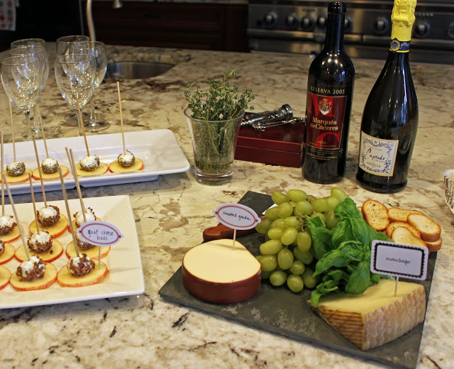 Wine and Cheese party table
