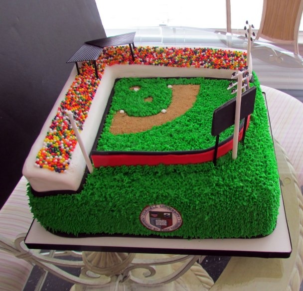 Wow!!!! I love this baseball field cake