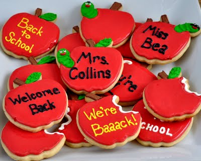 back to school apple cookies