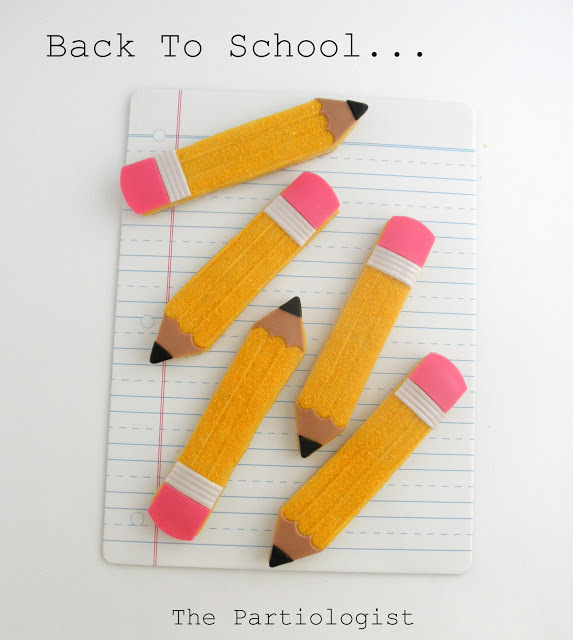 DIY Back To School Pencil Cookies