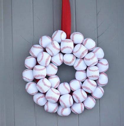 Lovely Baseball Wreath