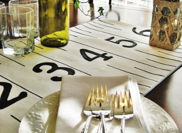 DIY Ruler Table Runner