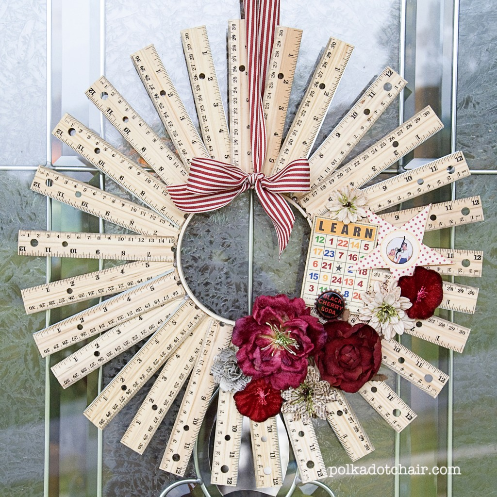 DIY Seriously Lovely Ruler Wreath