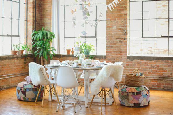Lovely home modern hobo tablescape