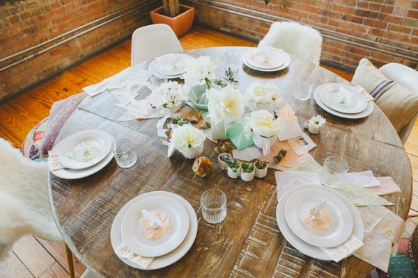 Modern hobo tablescape