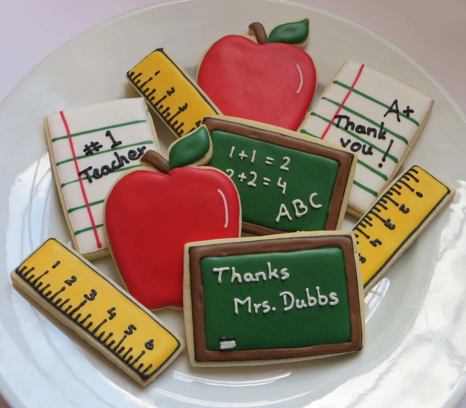 Ruler Cookies for Back To School Gift and Party